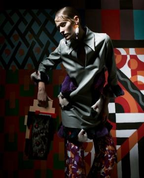 Bag collaboration for Sophie Sälekari's collection 2014. Photo: Juha Mustonen
