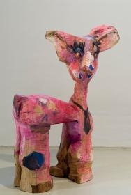 Jasmin Anoschkin, Bambi, 2007, Wood, photo: Pekka Vainonen.