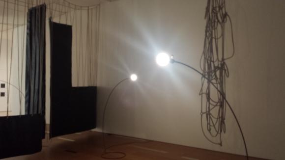 Leonor Antunes, installation view at SFMOMA.