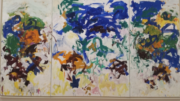 Joan Mitchell, Bracket, 1989, oil on canvas, is an example of the gestural modernism.