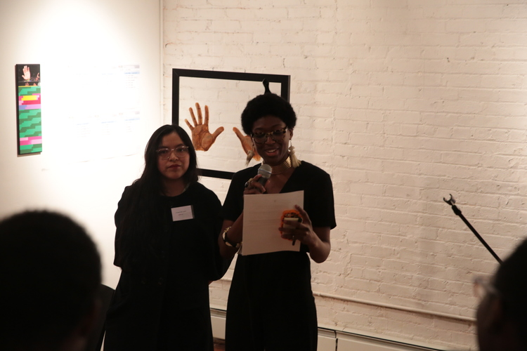 Dalaeja Foreman at the 'Speak Out' exhibition.