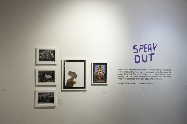 'Speak Out' -exhibition installation view.