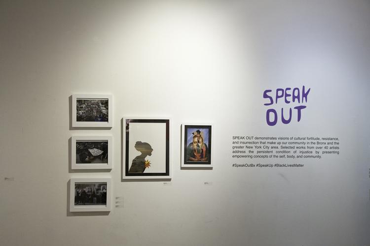 'Speak Out' -exhibition installation view.