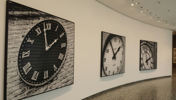 Bettina Pousttchi's World Time Clock at the Hirshorn's third floor is on view until May 29, 2017.