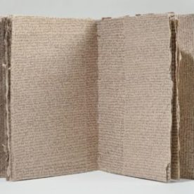 Aimee Lee, Figure and ground, 2006-2011, pen on handmade paper, tacket binding, 12 pages, CIA Gund Library Collection