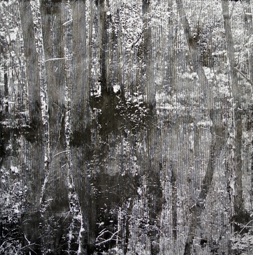 Katsutoshi Yuasa, 2013, The world without words, water-based woodcut on paper