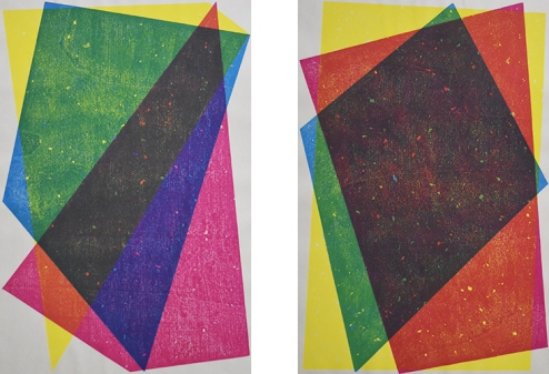 Katsutoshi Yuasa, 2015, CMYCYMMCYMYCYCMYMC / Set of 24 sheets, 64cm x 48cm each / Water-based woodcut on paper.