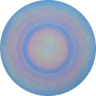 Katsutoshi Yuasa, 2015,Nordlys 45cm diameter Water-based woodcut on paper.
