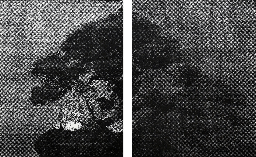 Katsutoshi Yuasa, 2016, Aesthetics of 12 #1  28cm x 45cm  Oil-based woodcut on paper