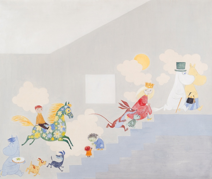 Tove Jansson, Leikki, Play II, 1955, courtesy of Moomin CharactersOy Ltd ™. photo HAM Hanna Kukorelli.