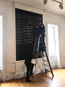 Sasha Huber & Petri Saarikko, Black Lives Matter, performance, actor Joseph T. Shavel, 2017