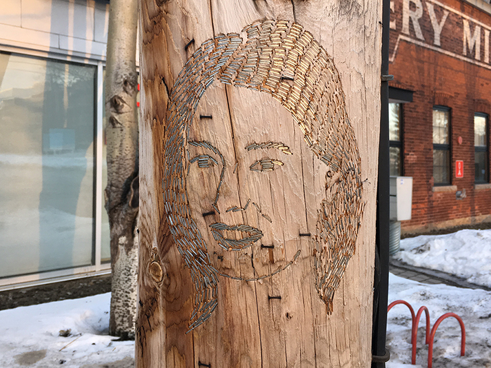 You Are Missed, is a work in progress project by Sasha Huber, depicting a new portrait series that uses wood and metal stitching. Huber's artist residency at Axenèo7 in Gatineau, Canada in 2017.