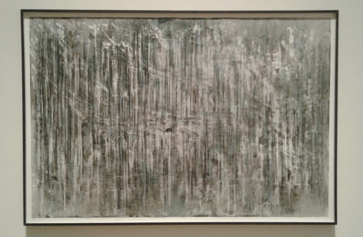 Diana Al-Hadid, Untitled, 2013, Conte crayon, charcoal, pastel and acrylic on Mylar.