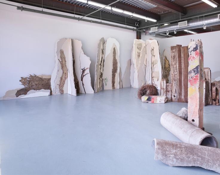 Linda Cunningham's installation view at Odetta Gallery.