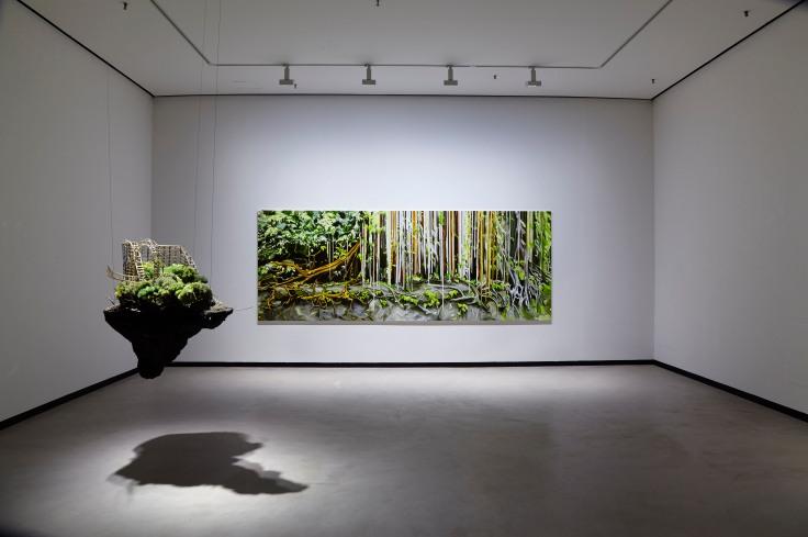 Tamara Piilola's oil on canvas in Galleria Heino, August 2017, installation view.