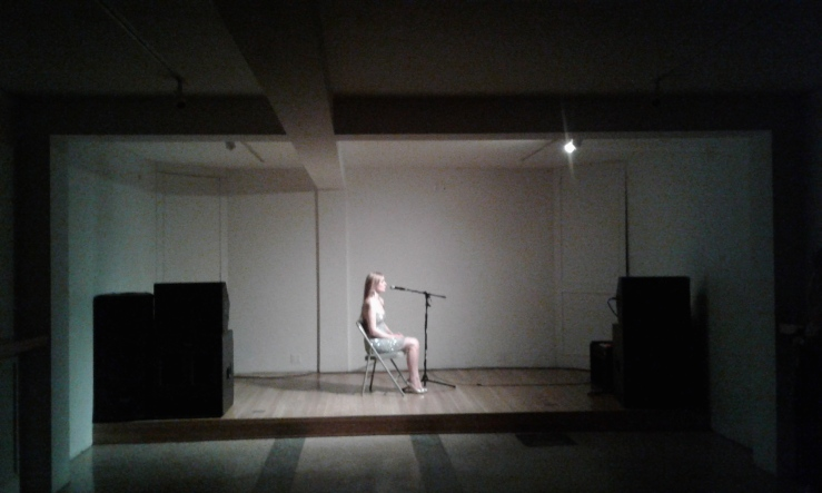 Flo Kasearu Performa-project at Estonian House.
