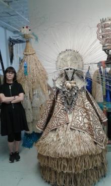 Laura Anderson Barbata in her studio.