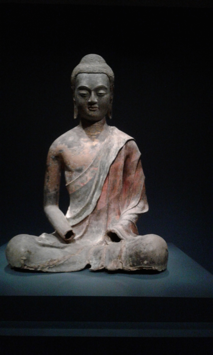 Buddha sculpture at the Sackler gallery.