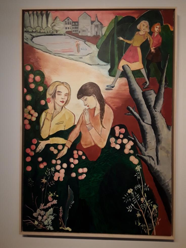 Rosa Loy, Tu das nicht, 2020, Casein on canvas.